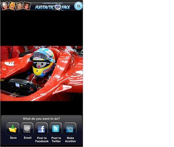 FACEinHOLEのアプリ画面